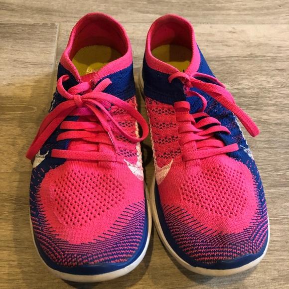 new product c95b7 e3188 Women s Nine Free Run 4.0 Pink Blue. M 5b87ed904773686ae3389973